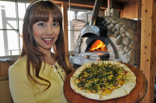久住ワイナリー・石窯ならではの香ばしいピザの香り
