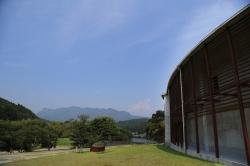 佐藤焼酎製造場蔵見学・祝子川と外観