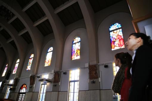 大分市中心部街あるき〜大分みちくさ小道 2013 大分カトリック教会