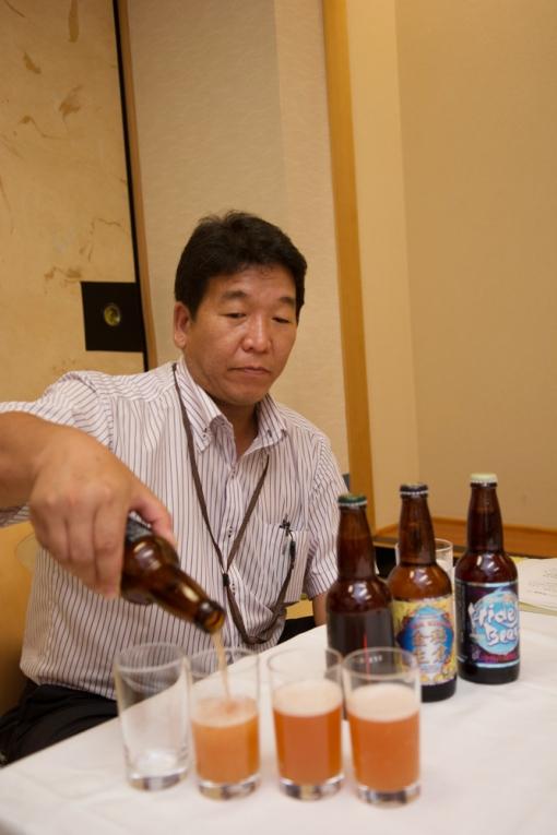 三蔵鼎談・ひでじビールレッドアイ試飲 永野さん