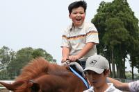 子供乗馬&馬車体験
