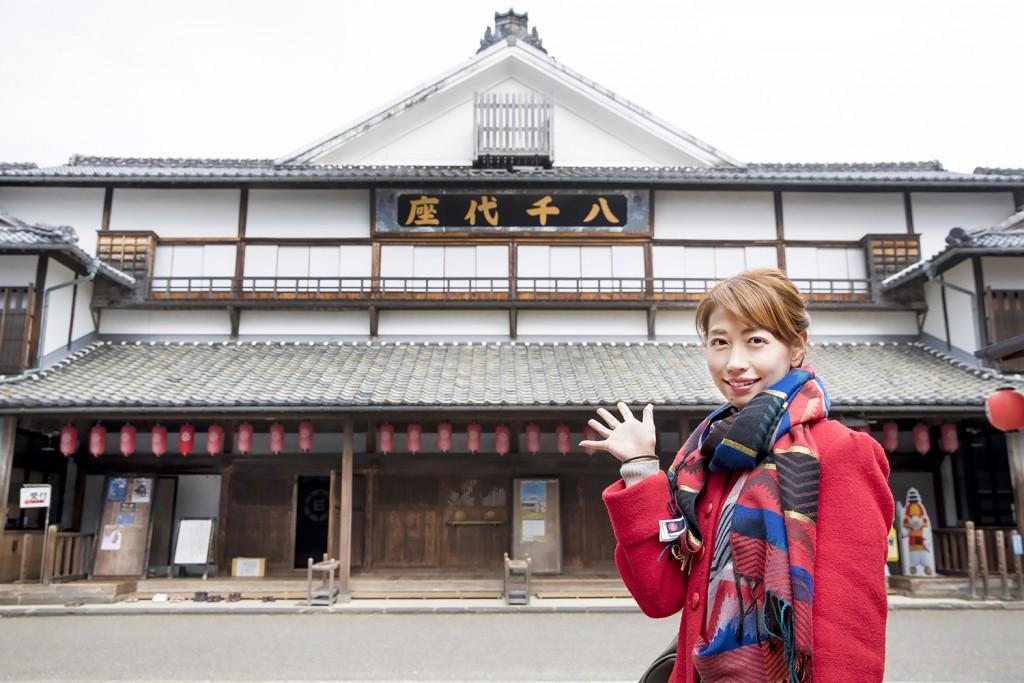 『八千代座・山鹿灯籠踊り』見学と周辺散策