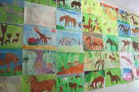 馬の絵展示