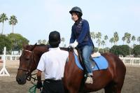 乗馬体験風景